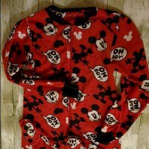 Mickey Mouse Footed Pajamas